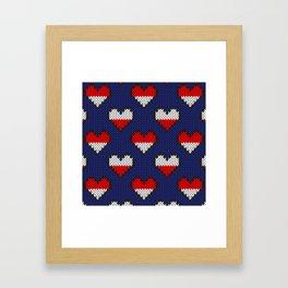 Heart half full half empty Framed Art Print
