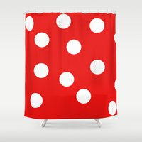 polka dot Shower Curtains featuring Polka dot by Bubblemaker