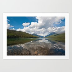 Bowman lake Art Print