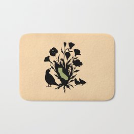 California - State Papercut Print Bath Mat