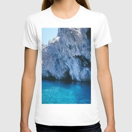 NATURE'S WONDER #5 - BLUE GROTTO (Turkey) #2 #art #society6 T-shirt