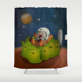Welcome to mars! Shower Curtain