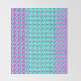 Pink & Aqua Spots on Taupe Throw Blanket