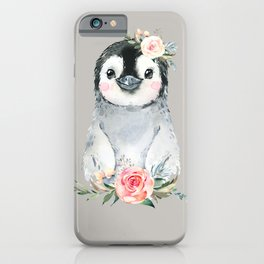 Penguin with Rose iPhone Case