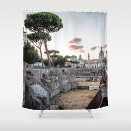 Sunset at Forum of Rome Shower Curtain