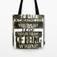 creativity Tote Bags featuring Creativity  by Lam Designs