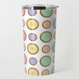 Rainbow Buttons  Travel Mug
