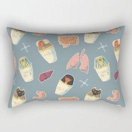 Canopic Jars Pattern Rectangular Pillow