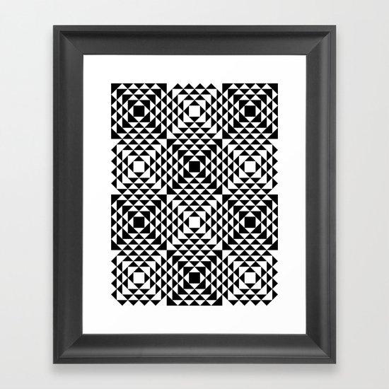 Geometric Tribal Framed Art Print