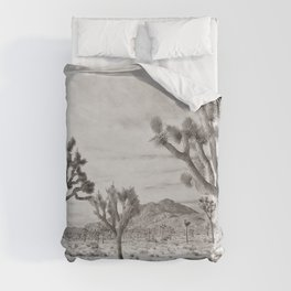 Joshua Tree Grey By CREYES Duvet Cover