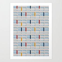 S04-2 - Facade Le Corbusier Art Print