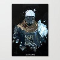dark souls Canvas Prints featuring Dark Souls Knight Splatter by 666HUGHES
