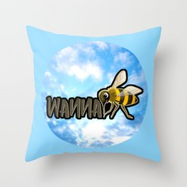 WANNA BEE Throw Pillow