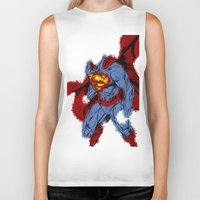 man of steel Biker Tanks featuring Man Of Steel by alsalat