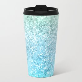 Seafoam Aqua Ocean MERMAID Girls Glitter #1 #shiny #decor #art #society6 Travel Mug