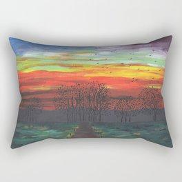 Birds Migrating at Sunset Rectangular Pillow