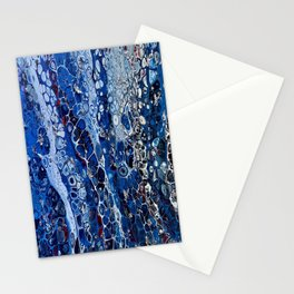 Abstract Acrylic Pour Art - Dish Soap Stationery Cards