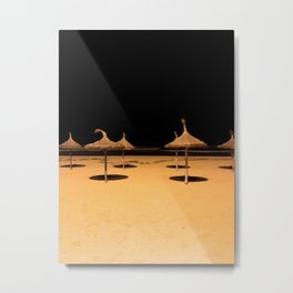 Beach at night Metal Print