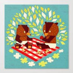 picknick bears Canvas Print