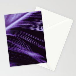Purple Ultraviolet Feather close up Stationery Cards