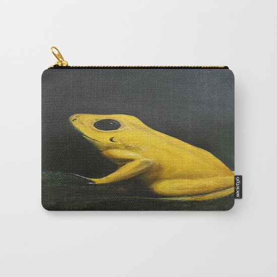 Yellow Frog Carry-All Pouch