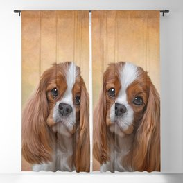 Drawing Dog breed Cavalier King Charles Spaniel Blackout Curtain