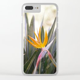 Flower in the green Clear iPhone Case