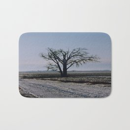 Minnesota Winter- Tree - on the way to Marshall - Wild Veda Bath Mat