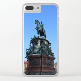 Monument to Nicholas the first. Clear iPhone Case