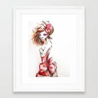 sketch Framed Art Prints featuring Sketch by Jaleesa McLean