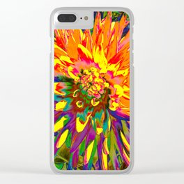 Extreme Dahlia Clear iPhone Case