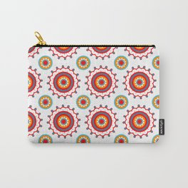 Retro Flower Carry-All Pouch