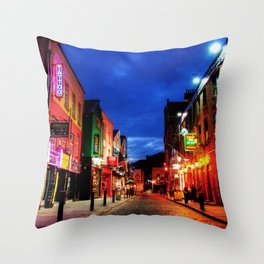 temple bar Throw Pillow