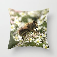 The Drone Fly Throw Pillow