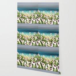 Coastal Calla Lilies Wallpaper