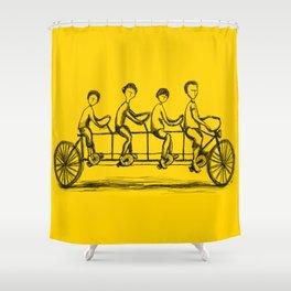 Family Bike Shower Curtain