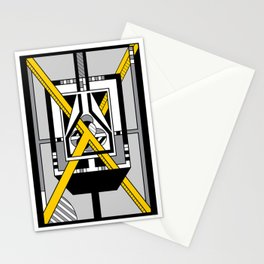 Yellow X - Geometric Abstract Design Stationery Cards