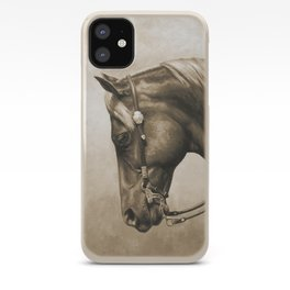 Western Quarter Horse Old Photo Effect iPhone Case
