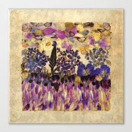 Petals As Paint - Purple Passion Canvas Print