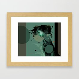 The Girl and the Moon (2) Framed Art Print