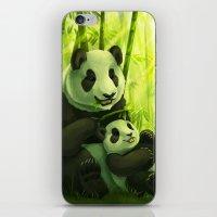 pandas iPhone & iPod Skins featuring Pandas by Keshi