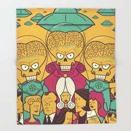 Mars Attacks! Throw Blanket