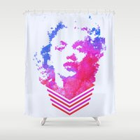 cassandra jean Shower Curtains featuring Norma Jean by Fimbis