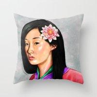 mulan Throw Pillows featuring mulan by Anja-Catharina