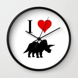 I Love Dinosaurs - Triceratops Wall Clock