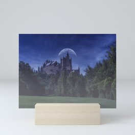 Alcazar de Segovia, old medieval palace in Segovia. Mini Art Print