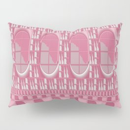 Rose Pink Geometric Abstract Pillow Sham