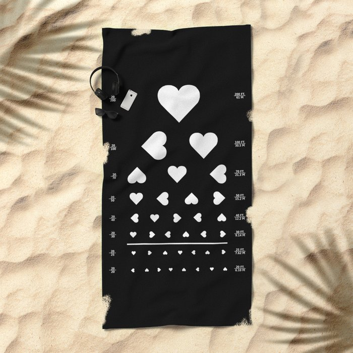 Can you see the love? Beach Towel