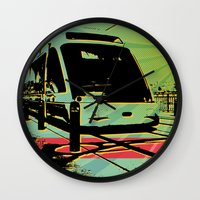 train Wall Clocks featuring Train by Pedro Nogueira