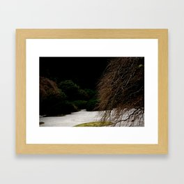 JAPANESE DEW DROPS Framed Art Print